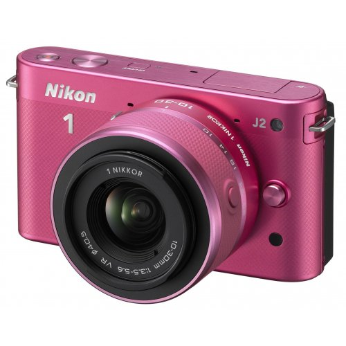 Фото Цифровые фотоаппараты Nikon 1 J2 10-30 VR Kit Rose