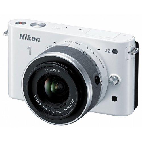 Фото Цифровые фотоаппараты Nikon 1 J2 10-30 VR Kit White