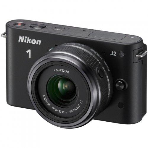 Фото Цифровые фотоаппараты Nikon 1 J2 11-27.5 Kit Black