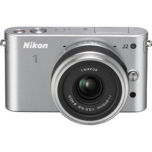 Фото Цифровые фотоаппараты Nikon 1 J2 11-27.5 Kit Silver