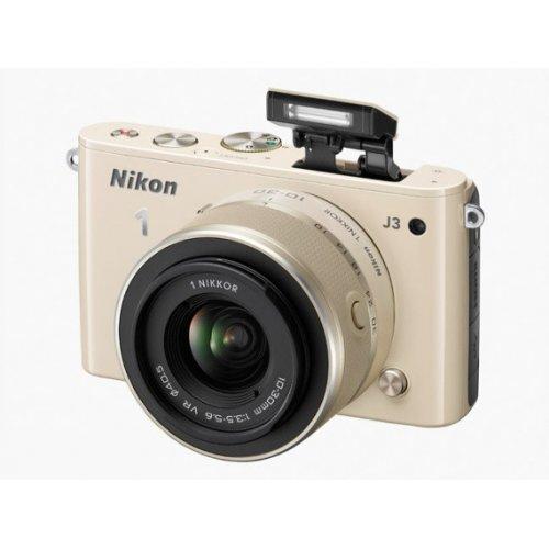 Фото Цифровые фотоаппараты Nikon 1 J3 10-30 VR + 30-110 VR Kit Beige