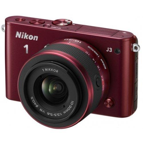Фото Цифровые фотоаппараты Nikon 1 J3 10-30 VR + 30-110 VR Kit Red