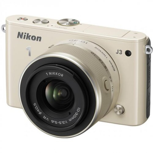 Фото Цифровые фотоаппараты Nikon 1 J3 10-30 VR Kit Beige