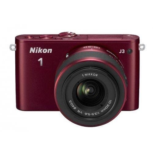 Фото Цифровые фотоаппараты Nikon 1 J3 10-30 VR Kit Red