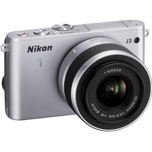 Фото Цифровые фотоаппараты Nikon 1 J3 10-30 VR Kit Silver