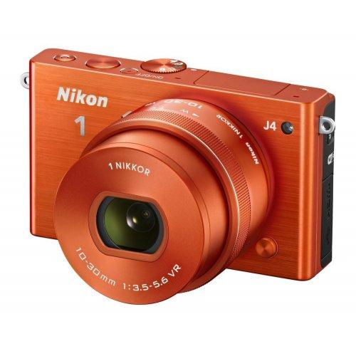Фото Цифровые фотоаппараты Nikon 1 J4 10–30 PD + 30–110 VR Kit Orange