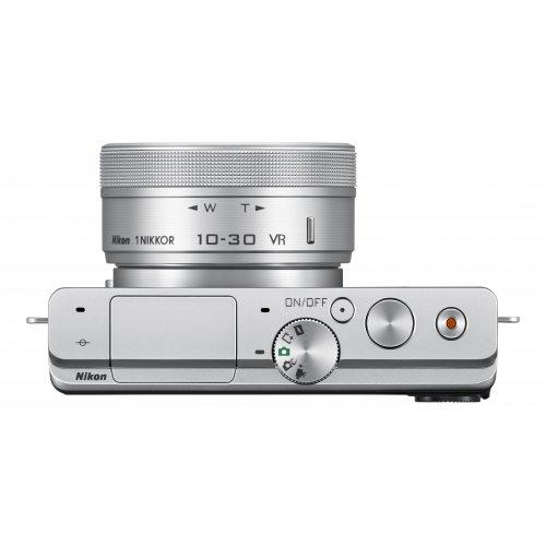 Фото Цифровые фотоаппараты Nikon 1 J4 10–30 PD + 30–110 VR Kit Silver