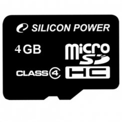 Фото Карта памяти Silicon Power microSDHC 4GB Class 4 (без адаптера) (SP004GBSTH004V10)