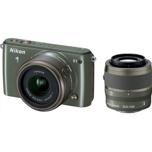 Фото Цифровые фотоаппараты Nikon 1 S1 11-27.5 + 30–110 VR Kit Khaki