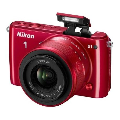 Фото Цифровые фотоаппараты Nikon 1 S1 11-27.5 + 30–110 VR Kit Red