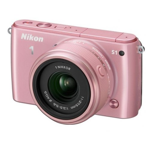 Фото Цифровые фотоаппараты Nikon 1 S1 11-27.5 + 30–110 VR Kit Rose