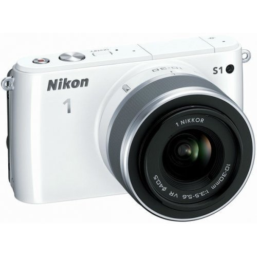Фото Цифровые фотоаппараты Nikon 1 S1 11-27.5 + 30–110 VR Kit White