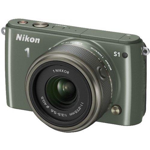 Фото Цифровые фотоаппараты Nikon 1 S1 11-27.5 Kit Khaki