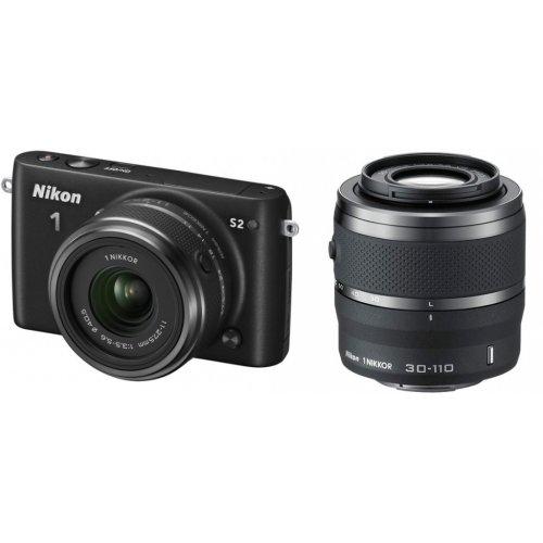 Фото Цифровые фотоаппараты Nikon 1 S2 11-27.5 + 30–110 VR Kit Black