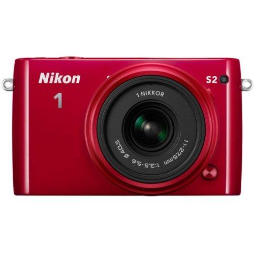 Фото Цифровые фотоаппараты Nikon 1 S2 11-27.5 + 30–110 VR Kit Red