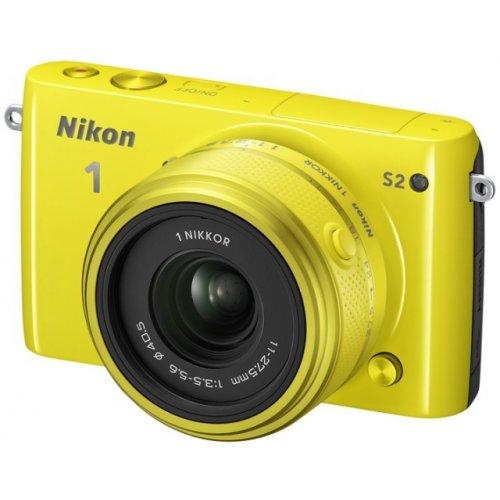 Фото Цифровые фотоаппараты Nikon 1 S2 11-27.5 Kit Yellow