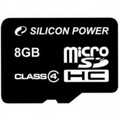 Фото Карта памяти Silicon Power microSDHC 8GB Class 4 (без адаптера) (SP008GBSTH004V10)