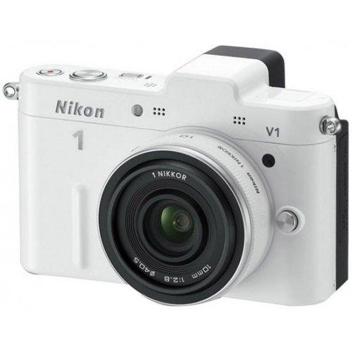 Фото Цифровые фотоаппараты Nikon 1 V1 10 2.8 Kit White
