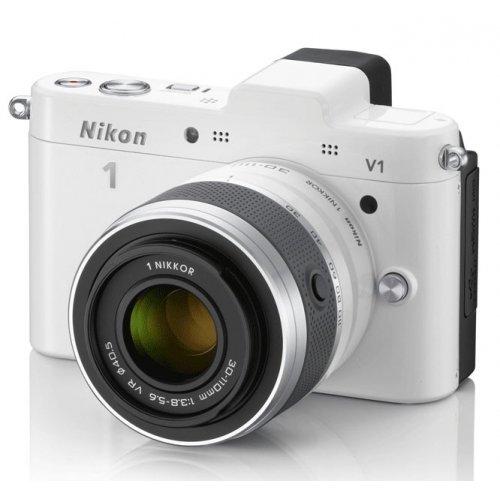 Фото Цифровые фотоаппараты Nikon 1 V1 10-30 VR + 30-110 VR Kit White