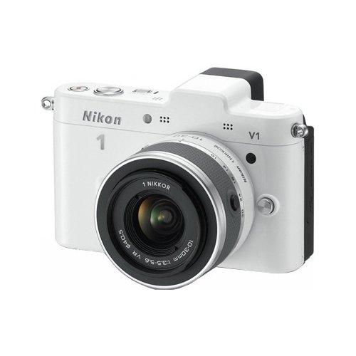 Фото Цифровые фотоаппараты Nikon 1 V1 10-30 VR Kit White