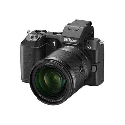 Фото Цифровые фотоаппараты Nikon 1 V2 10-100 VR Kit Black
