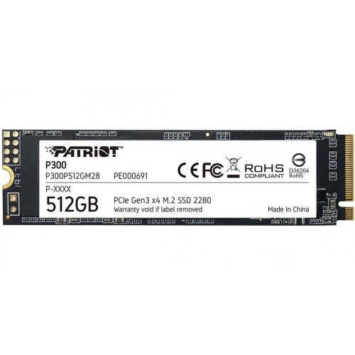 Фото Patriot P300 512GB M.2 (2280 PCI-E) NVMe x4 (P300P512GM28)
