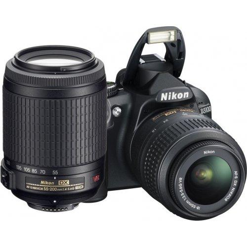 Фото Цифровые фотоаппараты Nikon D3100 18-55 VR + 55-200 VR Kit