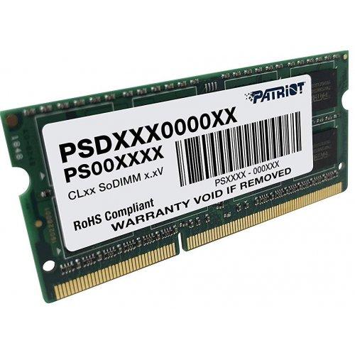 Фото ОЗУ Patriot SODIMM DDR3 4GB 1333Mhz (PSD34G13332S)