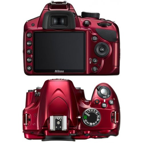 Фото Цифровые фотоаппараты Nikon D3200 18-55 VR II Kit Red