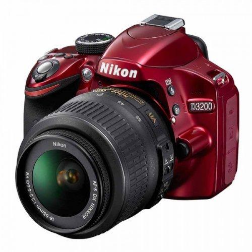 Фото Цифровые фотоаппараты Nikon D3200 18-55 VR Kit Red