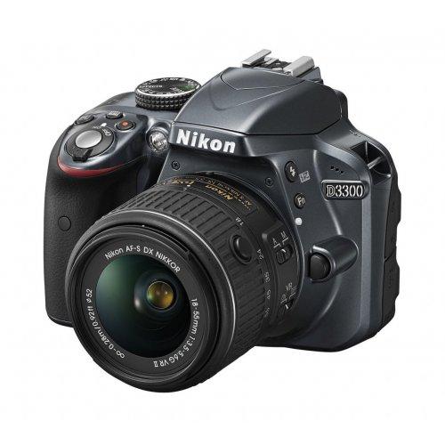 Фото Цифровые фотоаппараты Nikon D3300 18-55 VR II Kit Grey