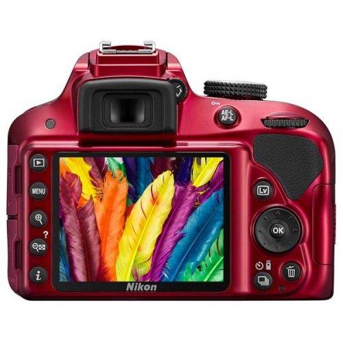 Фото Цифровые фотоаппараты Nikon D3300 18-55 VR II Kit Red