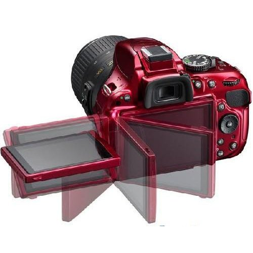 Фото Цифровые фотоаппараты Nikon D5200 18-55 VR II Kit Red