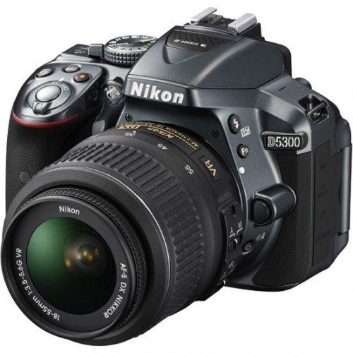 Фото Цифровые фотоаппараты Nikon D5300 18-55 VR Kit Grey