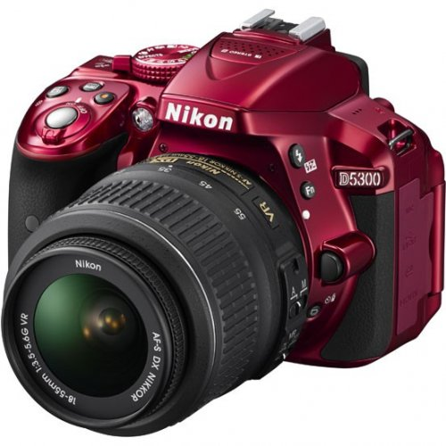 Фото Цифровые фотоаппараты Nikon D5300 18-55 VR Kit Red