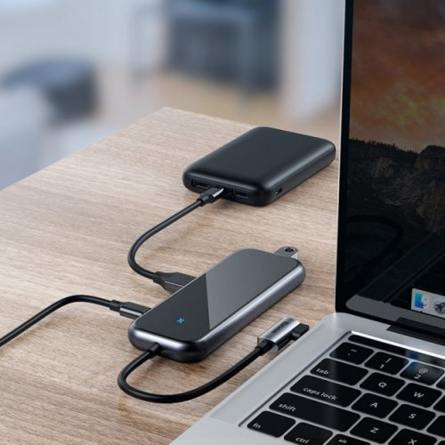 Фото USB-хаб Baseus Multi-functional USB Type-C to USB 2.0 Hub 4-ports (CAHUB-JZ0G) Deep Gray