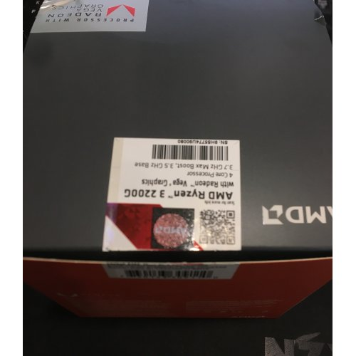 Фото Уценка процессор AMD Ryzen 3 2200G 3.5(3.7)GHz sAM4 Box (YD2200C5FBBOX) (Вскрыта упаковка, 247235)