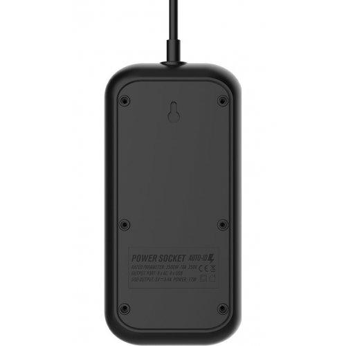 Фото Мережевий фільтр ColorWay 2 м 6 розеток + 4 USB (CW-CHE64B) Black