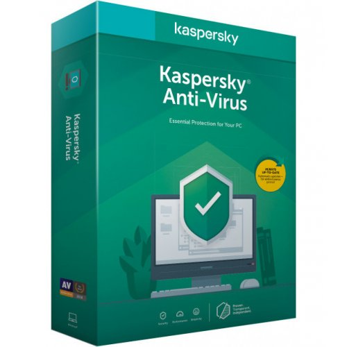 Фото Kaspersky Anti-Virus 2020 2 Desktop 1 year Base (DVD-Box) (5056244903237)