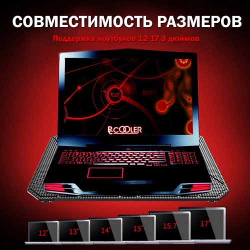 Фото Подставка для ноутбука PcСooler PC-R6 Black