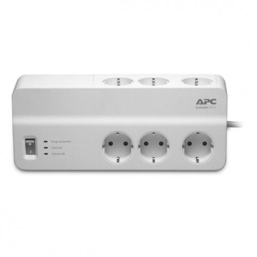 Фото Мережевий фільтр APC Essential SurgeArrest 2 м 6 розеток (PM6-RS) White