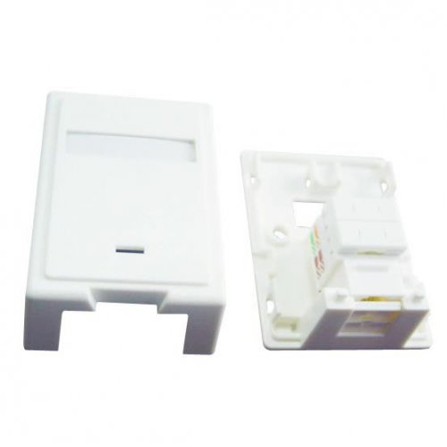 Фото Розетка Cablexpert cat5E keystone jack surface mount box (NCAC-SMB1)