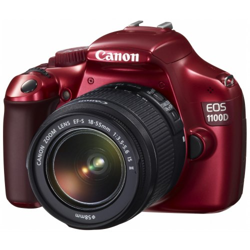 Фото Цифровые фотоаппараты Canon EOS 1100D 18-55 IS II Kit Red