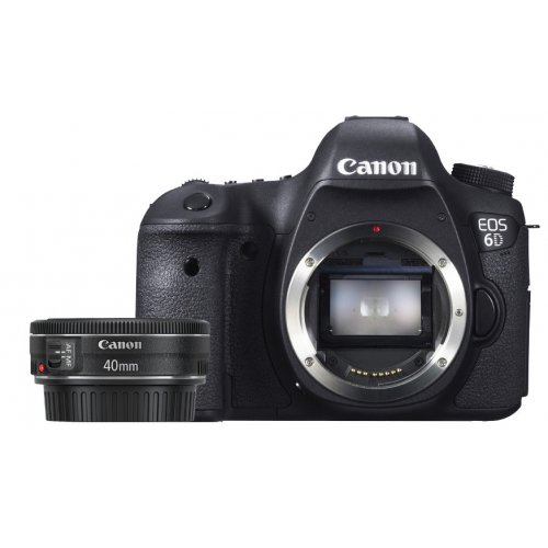Фото Цифровые фотоаппараты Canon EOS 6D 40 f/2.8 STM (WiFi + GPS) Kit