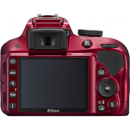 Фото Цифровые фотоаппараты Nikon D3300 Body Red