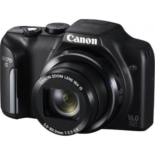 Фото Цифровые фотоаппараты Canon PowerShot SX170 IS Black