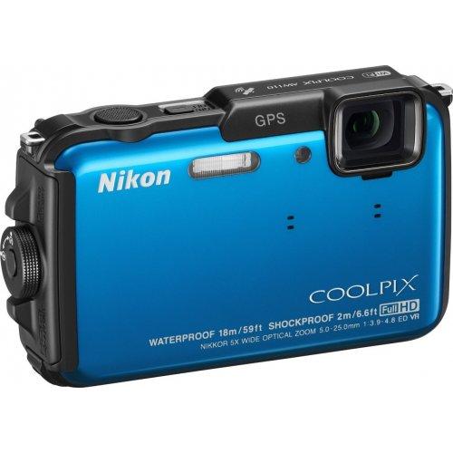 Фото Цифровые фотоаппараты Nikon Coolpix AW110 Blue