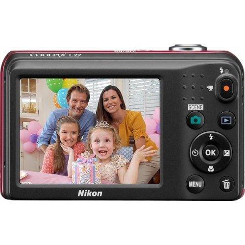 Фото Цифровые фотоаппараты Nikon Coolpix L27 Red