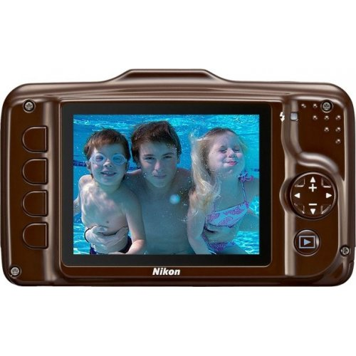 Фото Цифровые фотоаппараты Nikon Coolpix S31 Brown