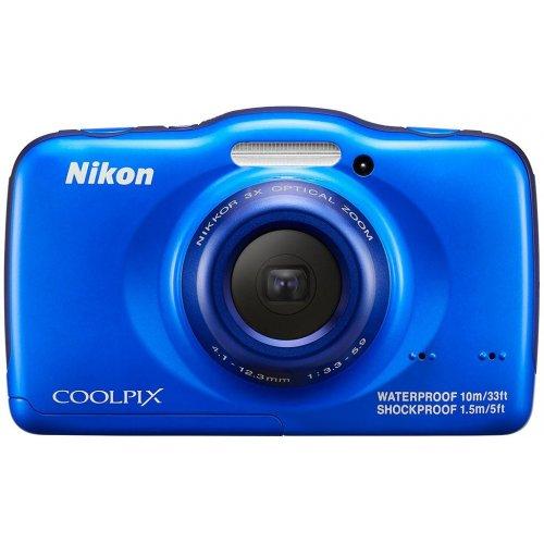 Фото Цифровые фотоаппараты Nikon Coolpix S32 Blue